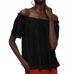 Aritzia Wilfred Sartre off shoulder top black S